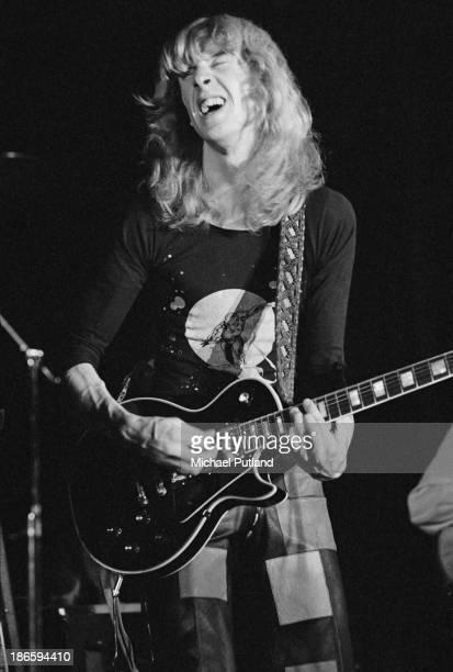 Scottish guitarist Davey Johnstone performing at Elton John's Christmas show at the Hammersmith Odeon London 21st December 1973