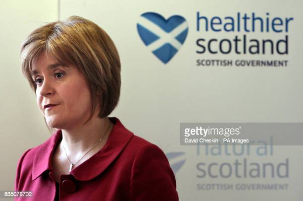 Scottish Health Minister Nicola Sturgeon during a press conference after a report on Vale of Leven hospital was released at St Andrew's House...