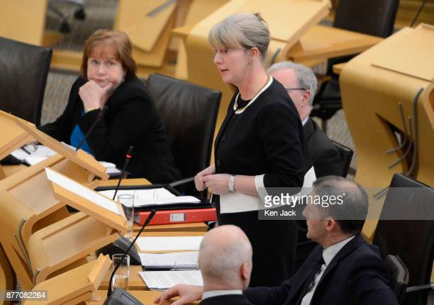 Scottish Health Secretary Shona Robison makes a statement in the Scottish Parliament on the Scottish Government's plans for the introduction of...
