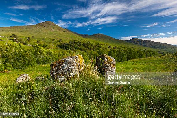 scottish highlands, west highland way, glen falloch, argyll and bute, scotland, united kingdom - argyll and bute stock photos and pictures