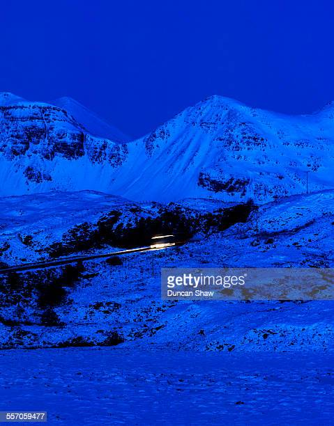 Scottish Highlands winter night