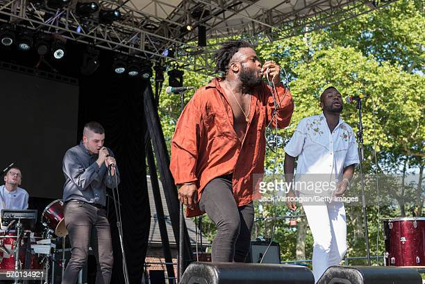 Scottish Hip-Hop and Pop band Young Fathers perform at Central Park SummerStage, New York, New York, July 25, 2015. Pictured are Scot 'G' Hastings ,...