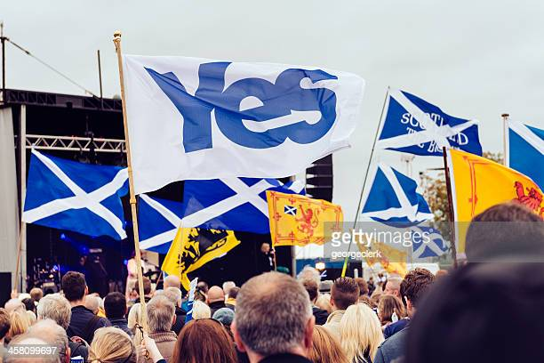 schottische independance rally in edinburgh - edinburgh scotland stock-fotos und bilder