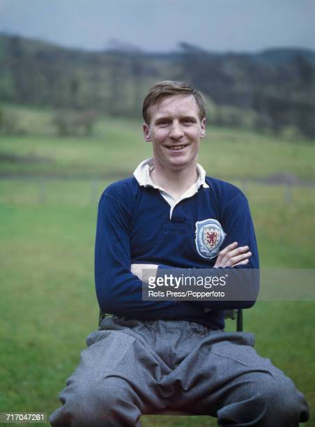 Scottish international footballer and defender with Celtic FC Billy McNeill posed prior to a training session with the national side in Scotland in...