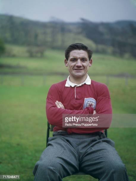 Scottish international footballer and defender with Hearts FC David Holt posed prior to a training session with the national side in Scotland in 1964