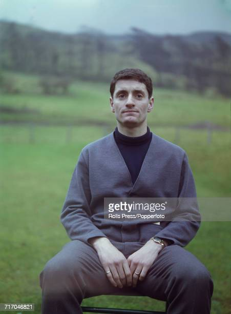 Scottish international footballer and player with Leicester City FC Frank McLintock posed prior to a training session with the national side in...