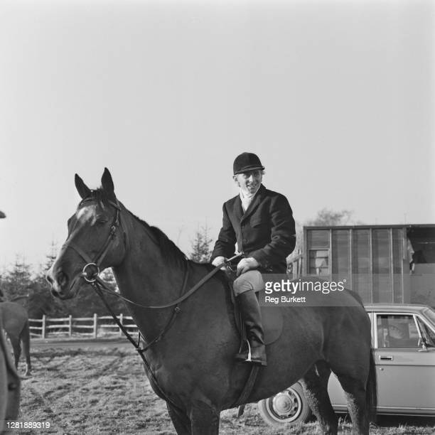 Scottish jockey Willie Carson in hunting attire at Hungerton in Lincolnshire UK 15th December 1972