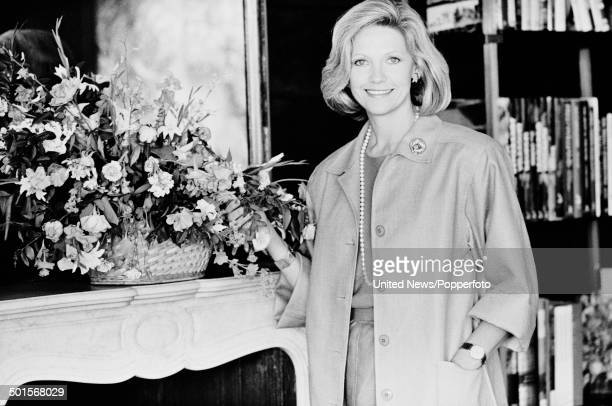 Scottish journalist and wife of Rupert Murdoch Anna Murdoch posed in London on 19th June 1985