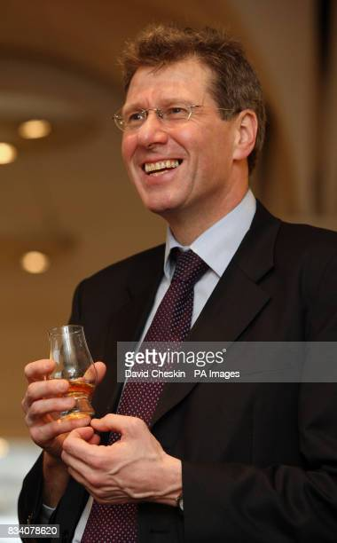 Scottish Justice minister Kenny MacAskill visiting the Scotch Whisky Experience to mark the national drink and Burns NightThe Royal Mile Edinburgh