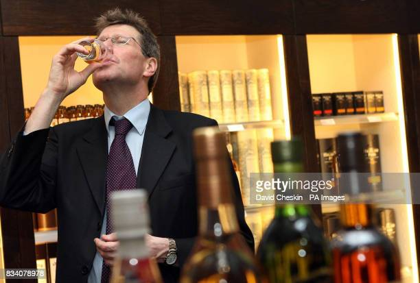 Scottish Justice minister Kenny MacAskill visiting the Scotch Whisky Experience to mark the national drink and Burns Night The Royal Mile Edinburgh