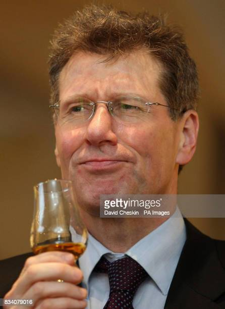 Scottish Justice minister Kenny MacAskill visiting the Scotch Whisky Experience to mark the national drink and Burns NightThe Royal MileEdinburgh