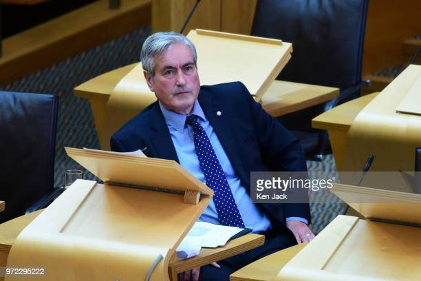 Scottish Labour education spokesperson Iain Gray listens to a ministerial statement on 'Student Support' by Scottish Higher Education Minister...