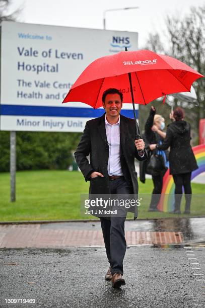 Scottish Labour leader Anas Sarwar attends the launch of Scottish Labour's election campaign, unveiling a National Recovery Plan outside the Vale of...