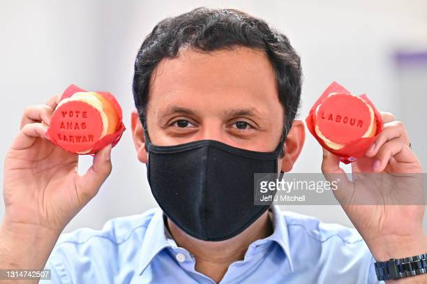 Scottish Labour leader Anas Sarwar campaigns for the Scottish Parliament election with a visit to a mother and toddler group at a community centre in...