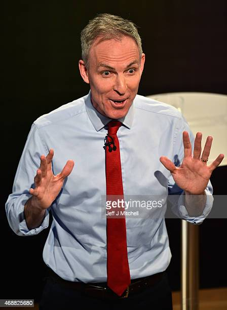 Scottish Labour leader Jim Murphy speaks during the Scottish Television Debate at the Assembly Rooms on April 7 2015 in Edinburgh Scotland Moderated...