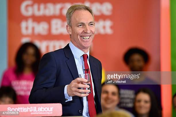 Scottish Labour leader Jim Murphy unveils Scottish Labour's election manifesto on April 17 2015 in Glasgow Scotland Mr Murphy claimed in his...