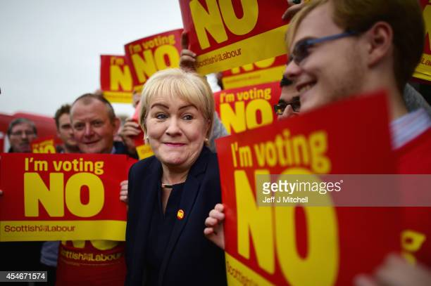 Scottish Labour Leader Johann Lamont joins 'No' activists while campaigning ahead the Scottish Referendum targeting SNP voters in Nicola Sturgeon's...