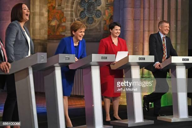 Scottish Labour leader Kezia Dugdale Nicola Sturgeon leader of the SNP Scottish Conservative Party leader Ruth Davidson and Willie RennieScottish...