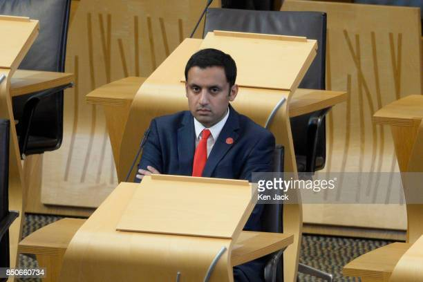 Scottish Labour leadership contender Anas Sarwar in the chamber of the Scottish Parliament in the session following First Minister's Questions on...