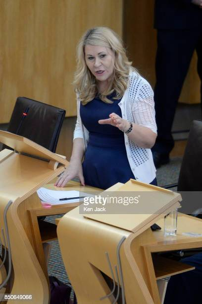 Scottish Labour Shadow Community Minister Pauline McNeill asks a question on the discovery of Grenfelltype cladding on highrise flats in Glasgow on...
