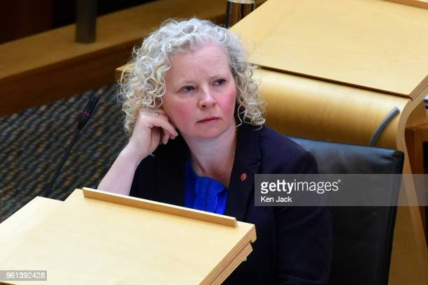 Scottish Labour spokesperson Claire Baker during a ministerial statement by Justice Secretary Michael Matheson in the Scottish Parliament on police...