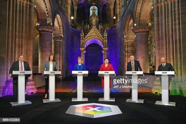 UKIP Scottish leader David Coburn Scottish Labour leader Kezia Dugdale Nicola Sturgeon leader of the SNP Scottish Conservative Party leader Ruth...