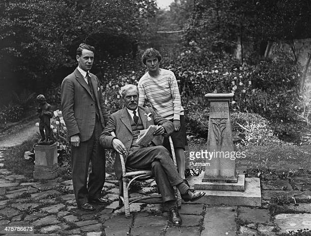 Scottish leader of the Labour Party Ramsay MacDonald with his son Labour MP Malcolm MacDonald and daughter Labour councilor Ishbel MacDonald 1st June...