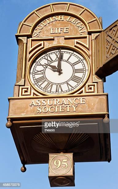 scottish legal edificio reloj, glasgow - theasis fotografías e imágenes de stock