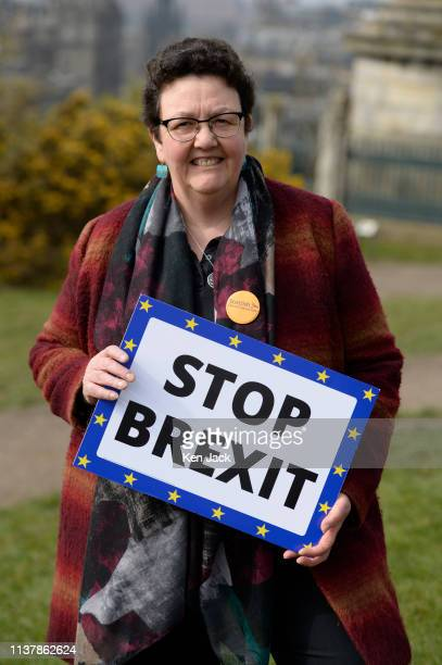 Scottish Liberal Democrat lead candidate for the European elections Sheila Ritchie on Calton Hill as party leader Willie Rennie announced the...