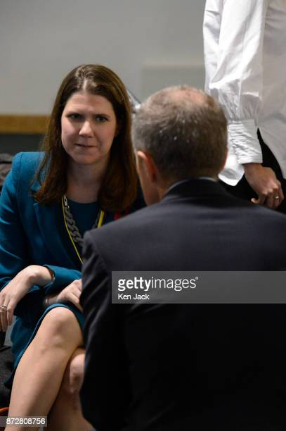 Scottish Liberal Democrat leader Willie Rennie chats with the UK party Deputy Leader Jo Swinson MP during the Scottish Liberal Democrats' autumn...
