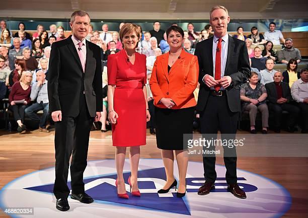 Scottish Liberal Democrat leader Willie Rennie First Minister and SNP leader Nicola Sturgeon Scottish Conservative leader Ruth Davidson and Scottish...