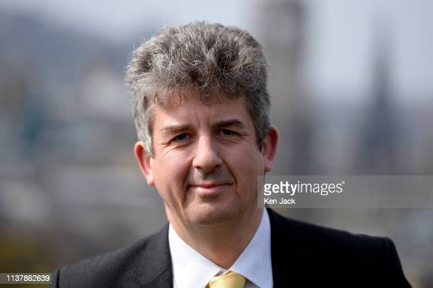 Scottish Liberal Democrat second list candidate for the European elections Fred Mackintosh on Calton Hill as party leader Willie Rennie announced the...