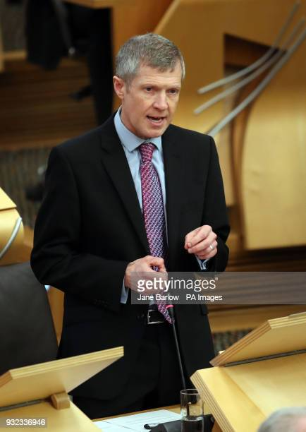 Scottish Liberal Democrats party leader Willie Rennie during First Minister's Questions at the Scottish Parliament in Edinburgh