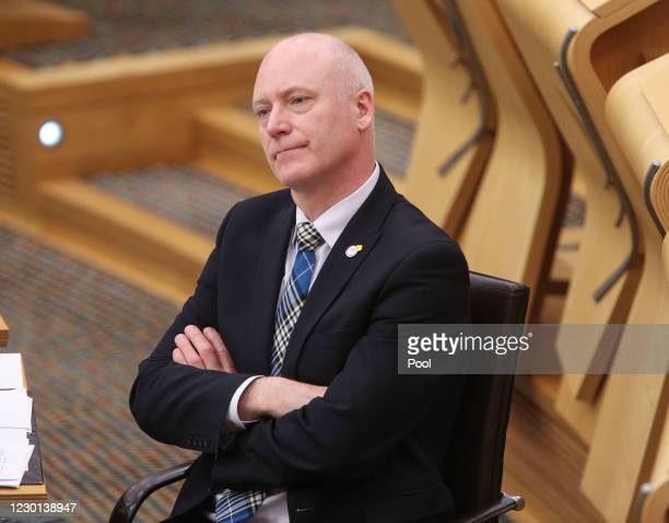 Scottish Minister for Public Health, Sport and Wellbeing Joe FitzPatrick at the parliament in Holyrood before Ministerial Statement: Tackling Drug...