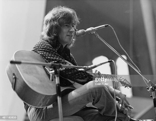Scottish musician Al Stewart performing circa 1970