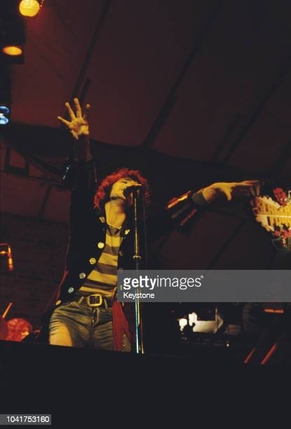 Scottish musician Alex Harvey in concert with his Soul Band London August 1974