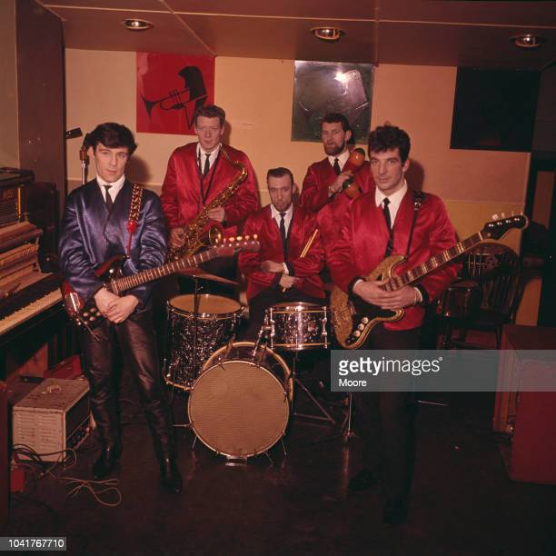 Scottish musician Alex Harvey rehearsing with his Soul Band at a jazz club on Oxford Street London March 1964