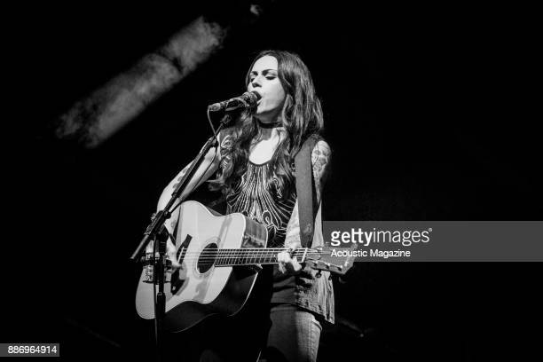 Scottish musician Amy MacDonald performing live on stage at the Pavilion Theatre in Bournemouth on April 2 2017