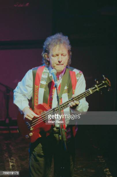 Scottish musician and bass guitarist Jack Bruce performs live on stage with the trio BruceBakerMoore at the Marquee in London in June 1994