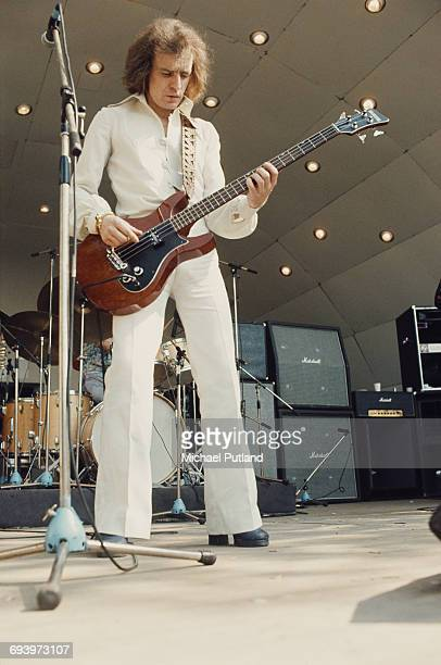 Scottish musician and songwriter Jack Bruce performing with the Jack Bruce Band at Crystal Palace London 7th June 1975