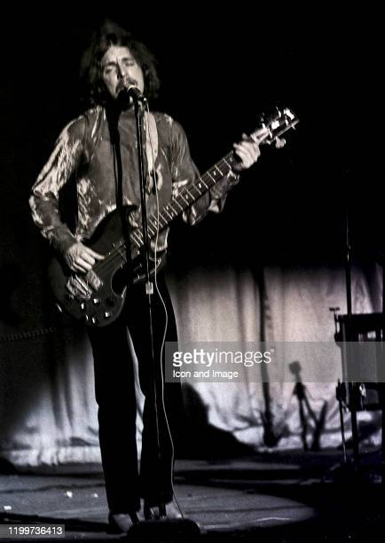 Scottish musician, singer and songwriter, Jack Bruce , performs with Cream at the Sam Houston Coliseum on March 31 in Houston, TX.