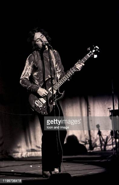 Scottish musician singer and songwriter Jack Bruce performs with Cream at the Sam Houston Coliseum on March 31 in Houston TX