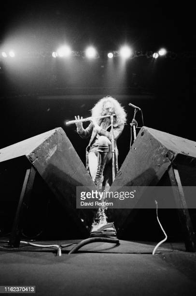 Scottish musician singersongwriter and multiinstrumentalist Jethro Tull performing live on stage circa 1975