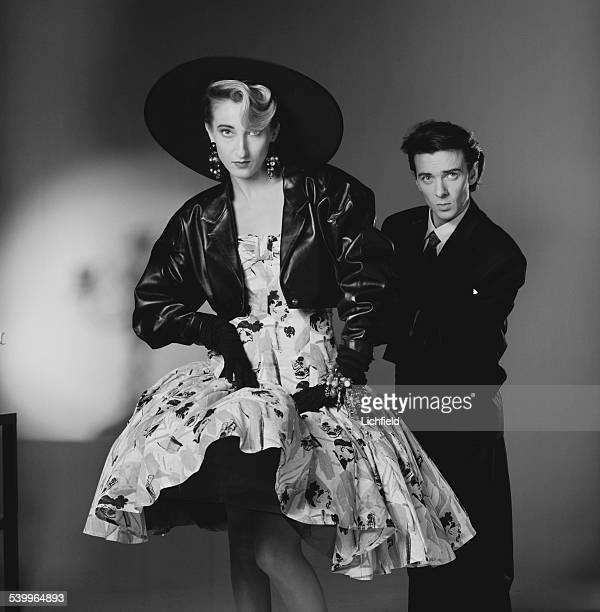Scottish musician Thomas Leer and German singer Claudia Brucken of synthpop duo Act April 1987