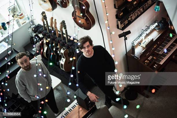 Scottish musicians Sam McTrusty and Ross McNae of alternative rock group Twin Atlantic, photographed at their studio in Glasgow, Scotland, on...