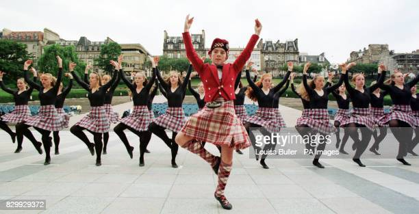 Scottish National Dance Champion Tony Cargill heads up a media preview of the act to be shown at this year's Edinburgh Tattoo with the all female...