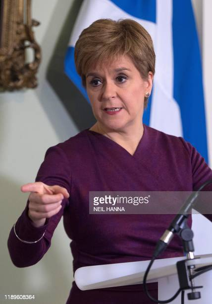 Scottish National Party leader and Scotland's First Minister Nicola Sturgeon sets out the case for a second referendum on Scottish independence,...