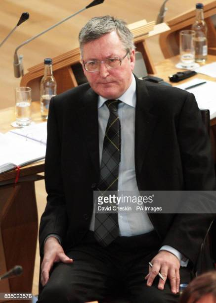 Scottish National Party MSP Fergus Ewing looks on during the Knife Crime debate in the Scottish Parliament today