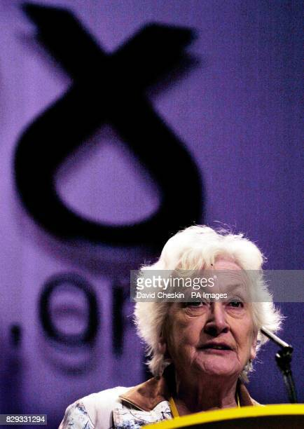 Scottish National Party President Winnie Ewing speaks at the SNP conference in Inverness Alex Salmond will tell the conference that his return to the...