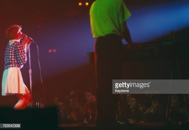 Scottish new wave band with lead singer Clare Grogan in concert at the Hammersmith Palais London 1982
